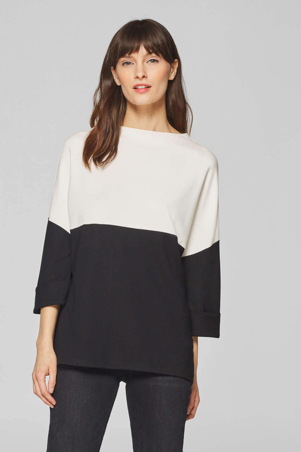 Esprit - Oversized top with batwing sleeves