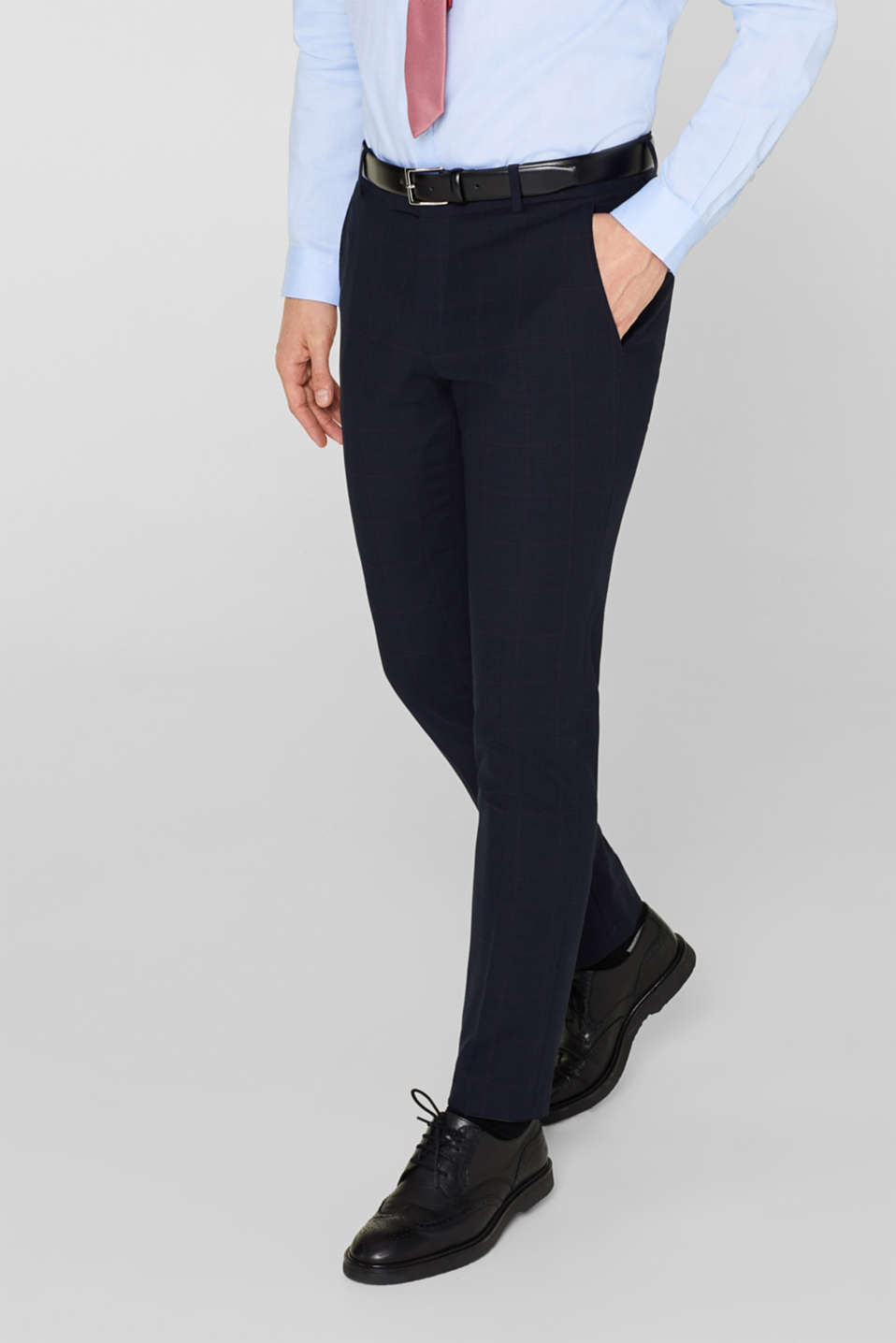 Esprit - ACTIVE SUIT mix + match: kostuumbroek met wol