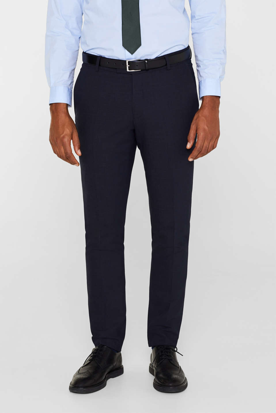 Esprit - ACTIVE SUIT mix + match: Check suit trousers