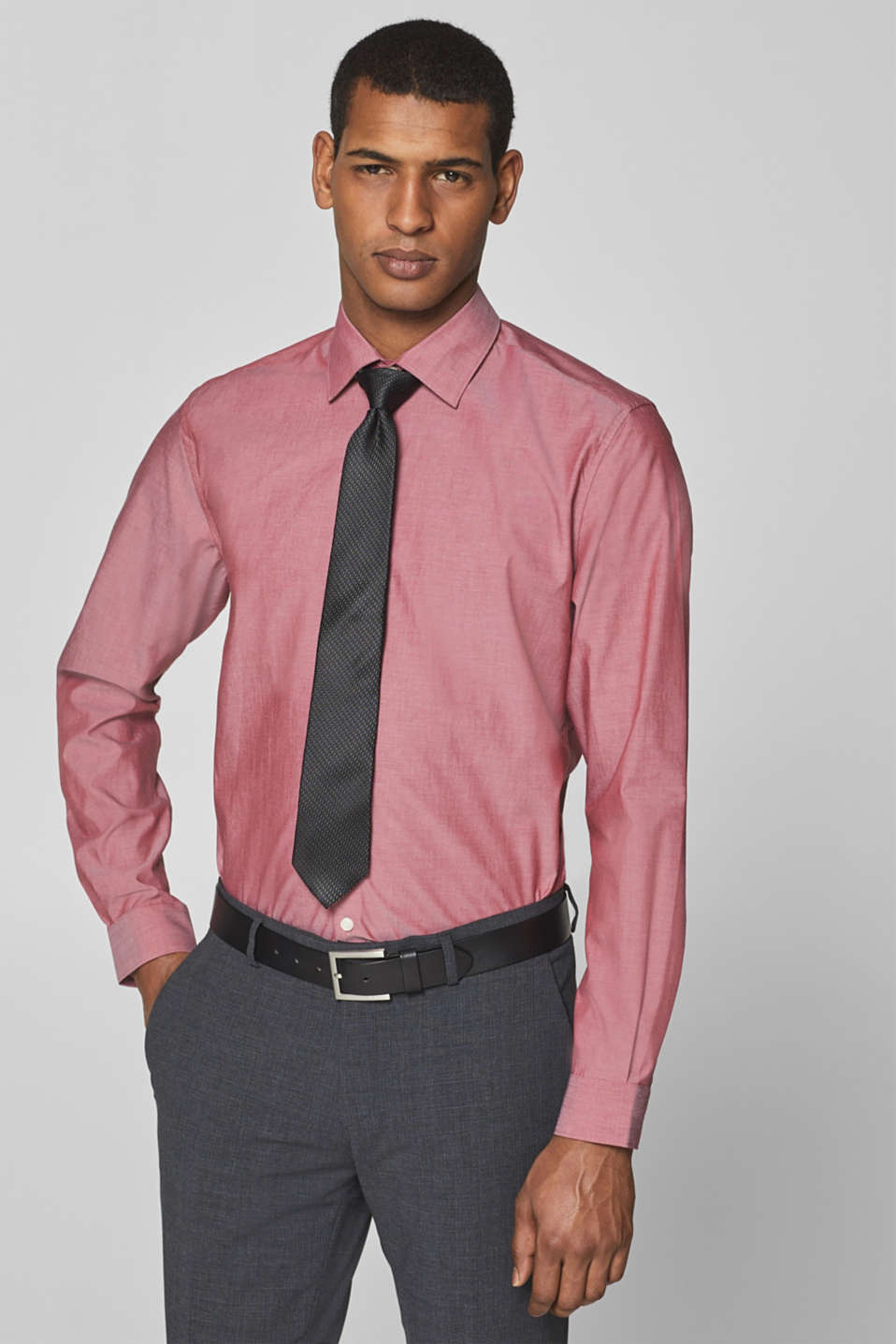 Esprit - Premium shirt with mechanical stretch