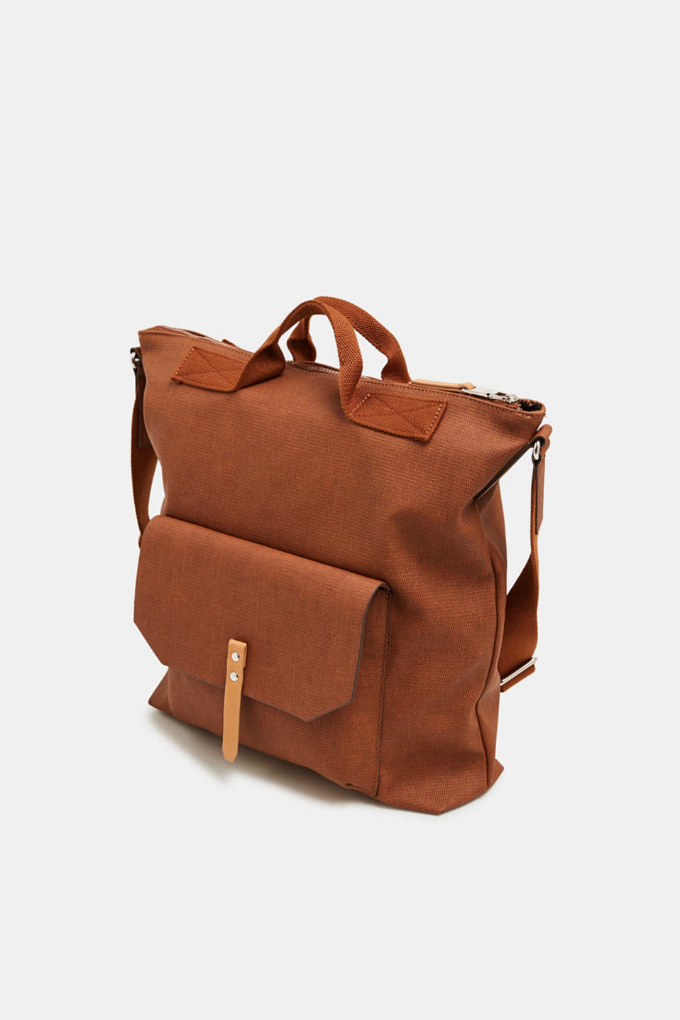 Tote bag with texture, RUST BROWN, detail image number 2