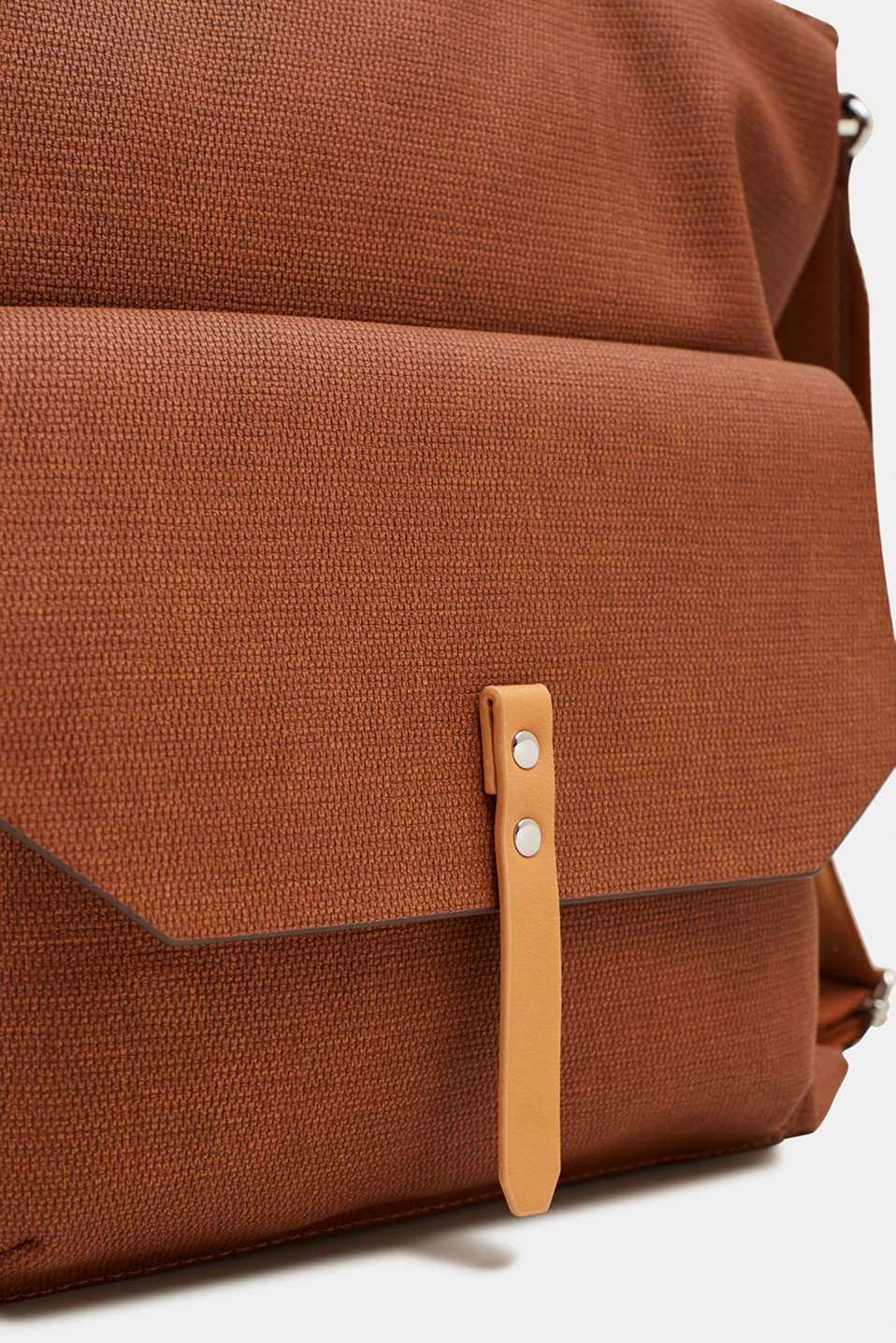 Tote bag with texture, RUST BROWN, detail image number 3