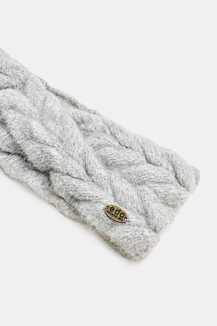 Headband in a braided look, GREY, detail image number 1