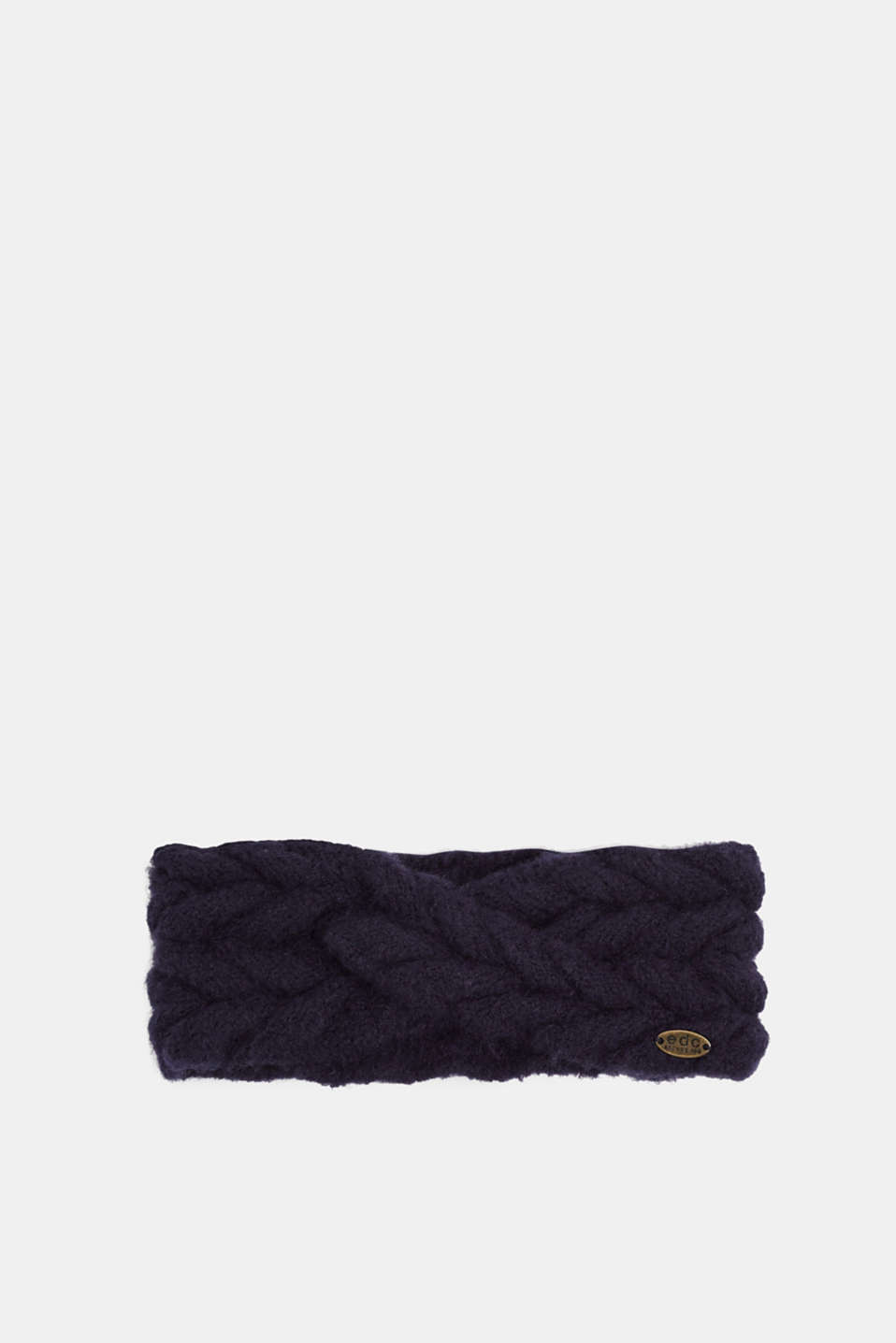 Headband in a braided look, NAVY, detail image number 0