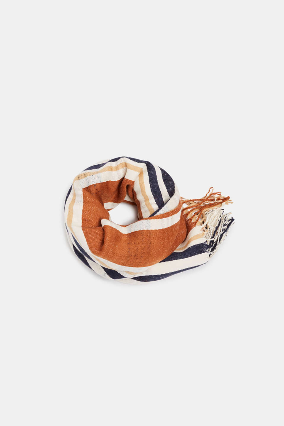 Scarf with stripes, OFF WHITE, detail image number 0