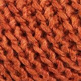 With wool and alpaca: Textured scarf, CINNAMON, swatch