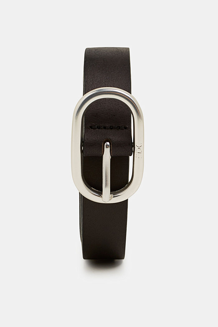 Riem van buffelleer, BLACK, detail image number 0