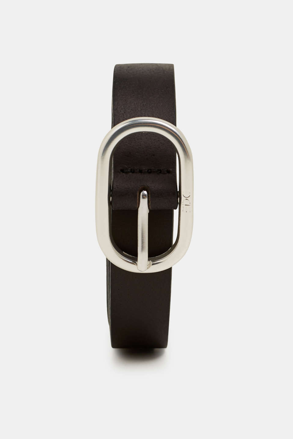 Buffalo leather belt, BLACK, detail image number 0