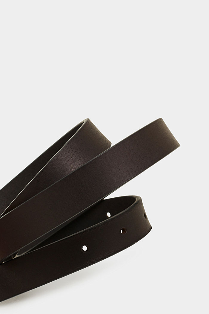 Riem van buffelleer, BLACK, detail image number 1