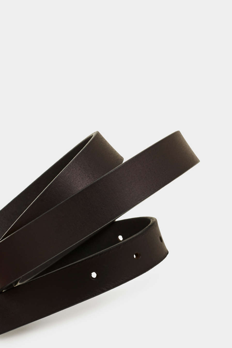 Buffalo leather belt, BLACK, detail image number 1
