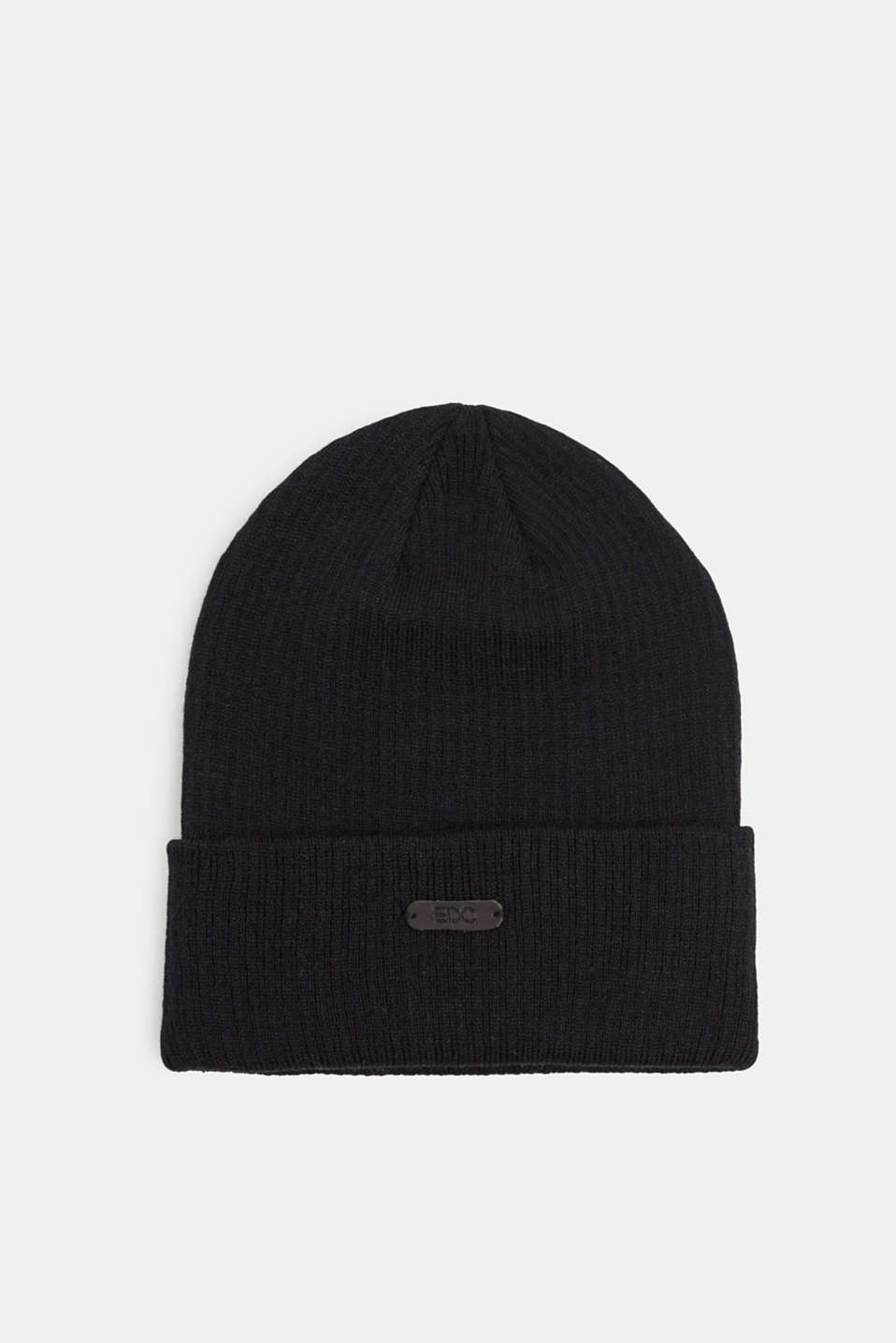 Beanie with Polylana®, BLACK, detail image number 0