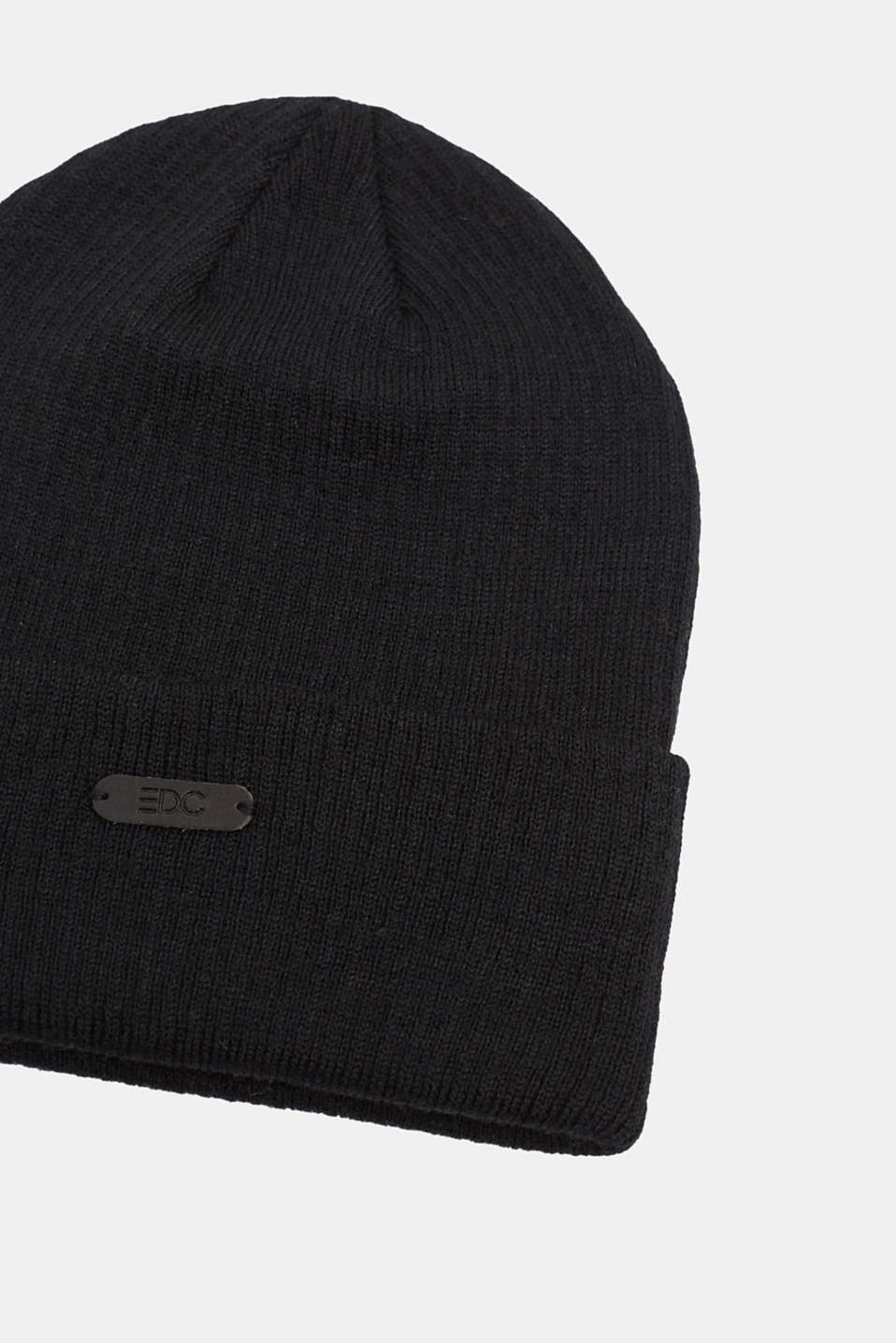 Beanie with Polylana®, BLACK, detail image number 1