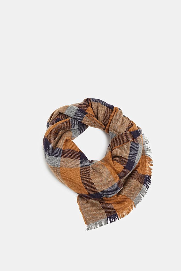 Sjaal met ruitmotief, NAVY, detail image number 0