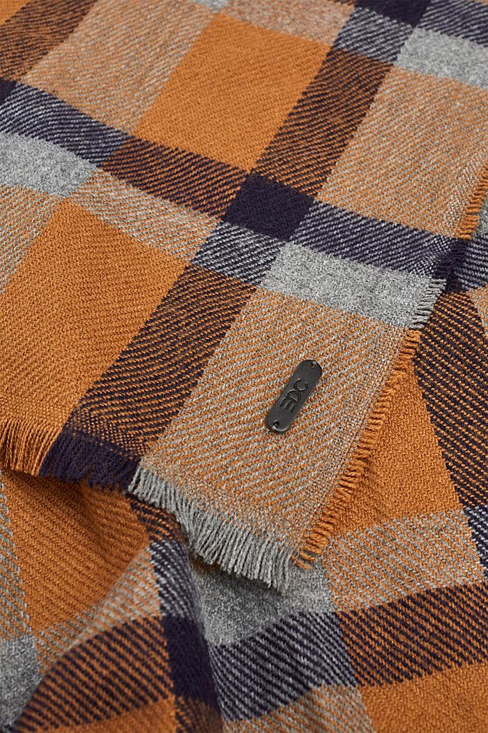Sjaal met ruitmotief, NAVY, detail image number 1