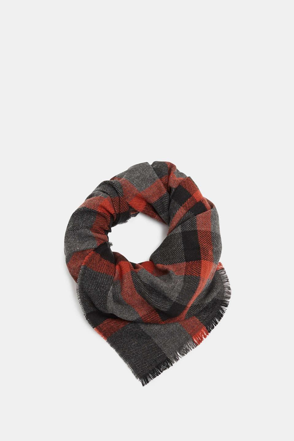 Check scarf, RUST ORANGE, detail image number 0
