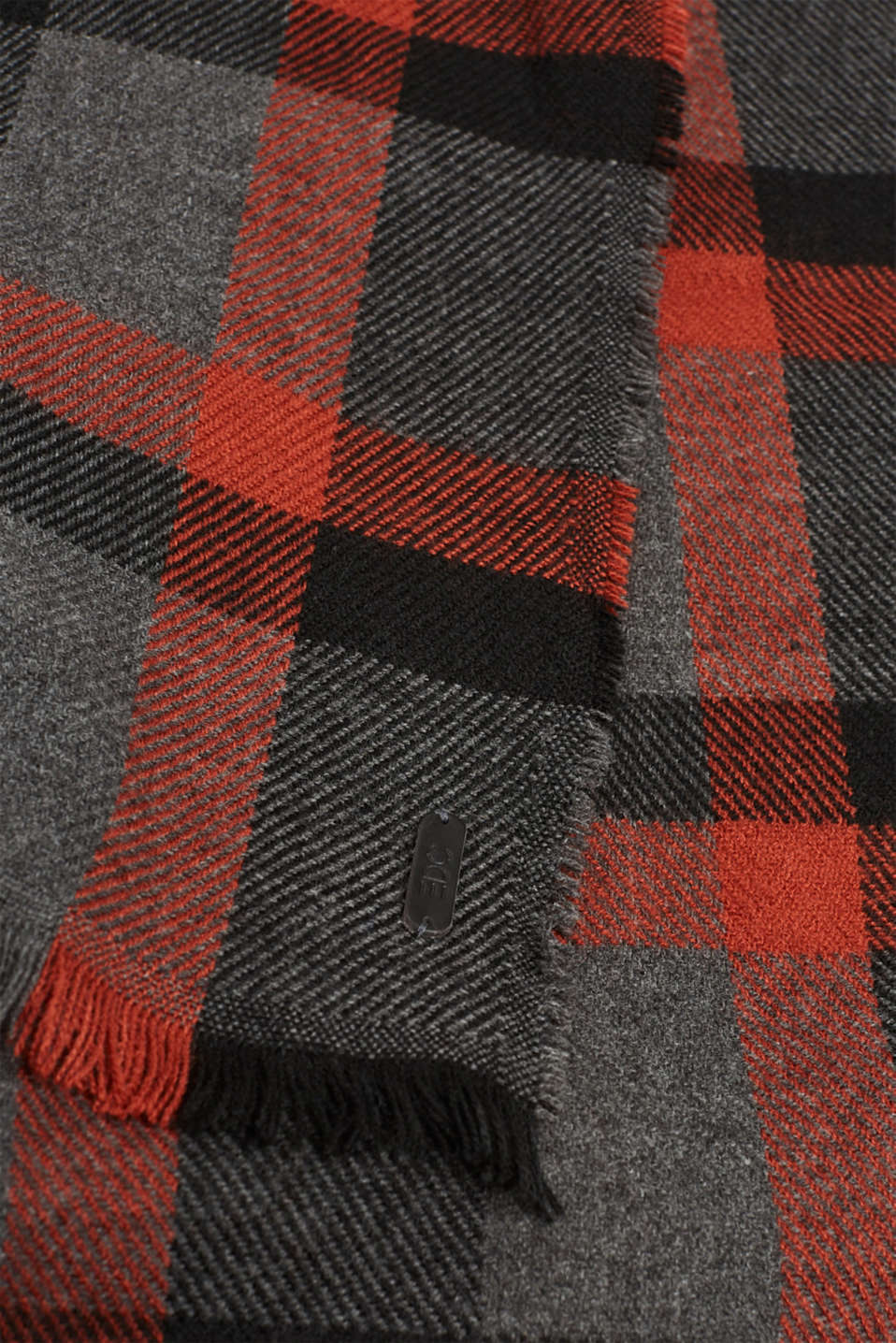 Check scarf, RUST ORANGE, detail image number 2