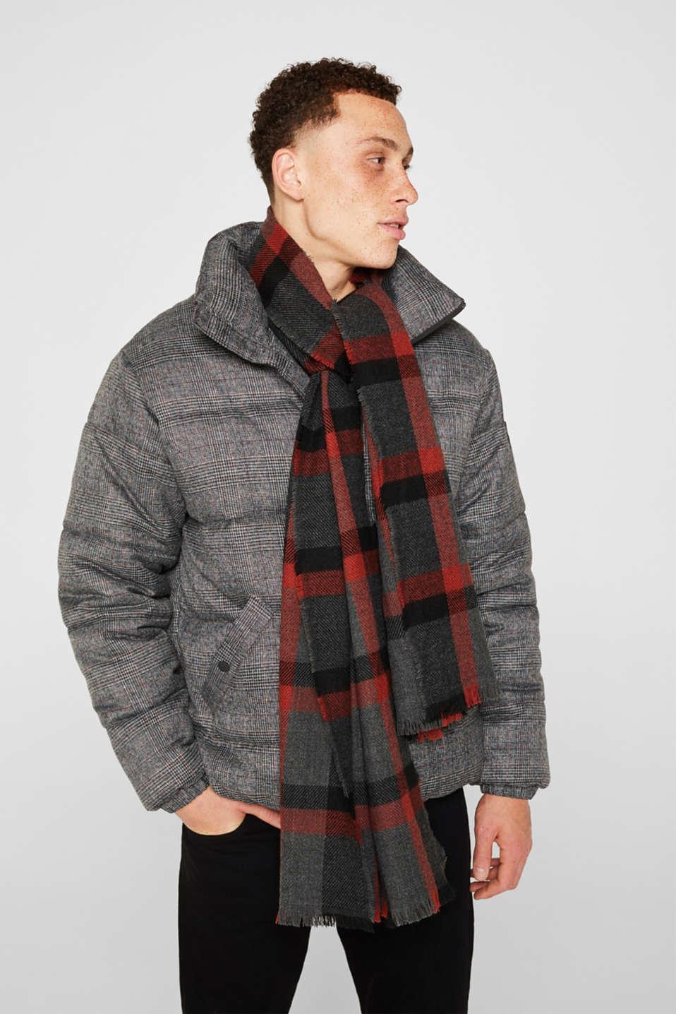 Check scarf, RUST ORANGE, detail image number 1