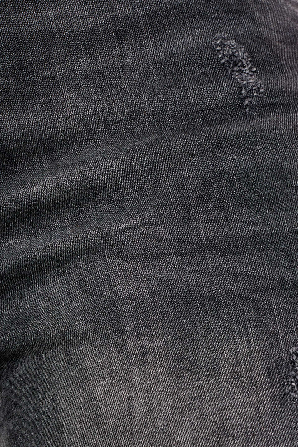 Stretch jeans with zip detail, BLACK MEDIUM WASH, detail image number 4