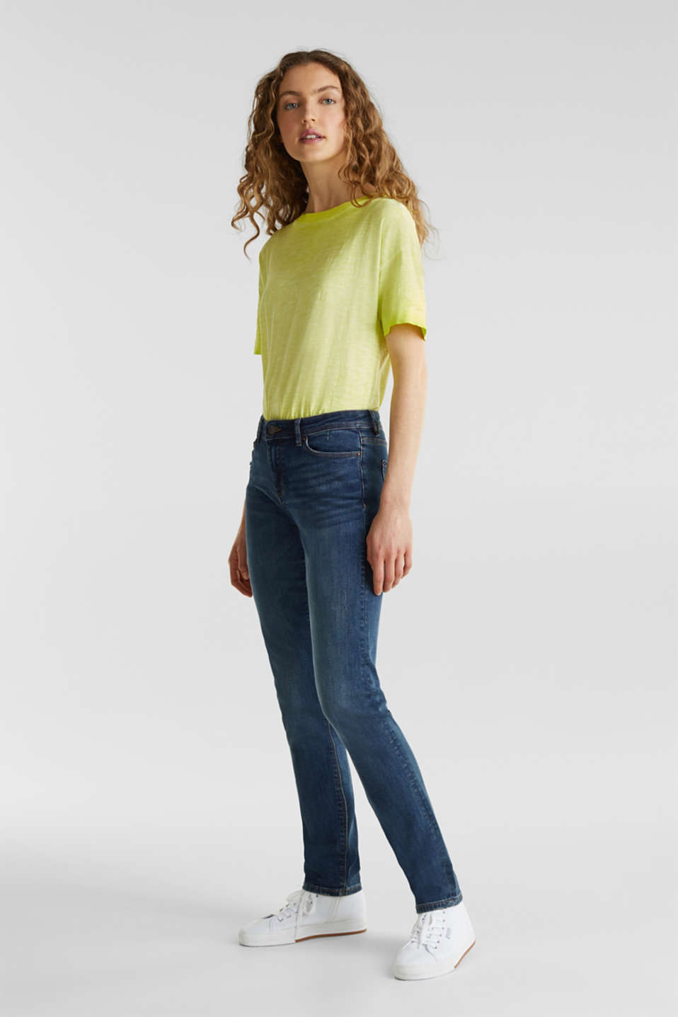 edc - Stretch-Jeans mit Washed-Effekten