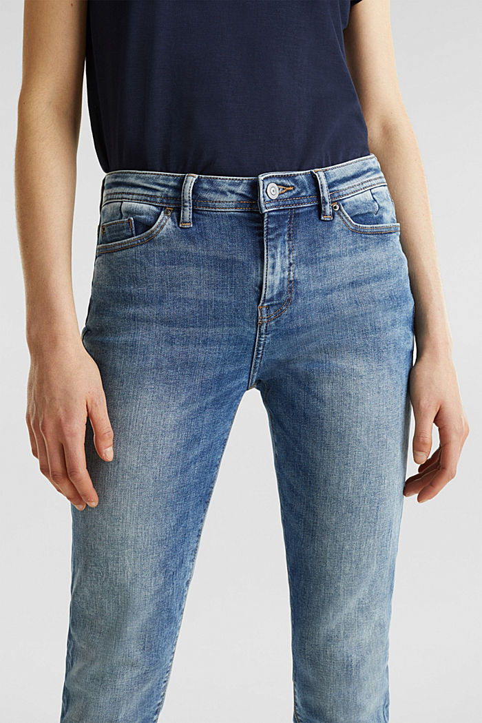 Stretch jeans with a washed effects, BLUE MEDIUM WASHED, detail image number 2