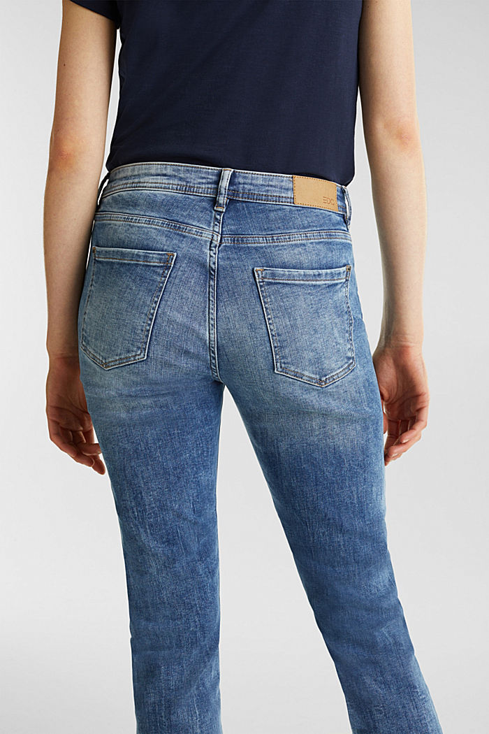 Stretch jeans with a washed effects, BLUE MEDIUM WASHED, detail image number 5