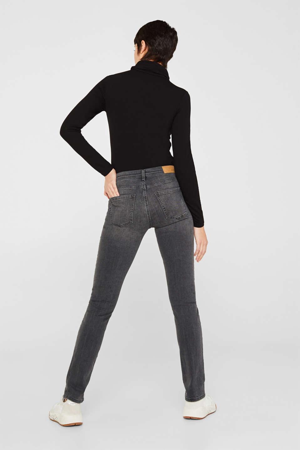 Stretch jeans in a vintage look, BLACK MEDIUM WASH, detail image number 3