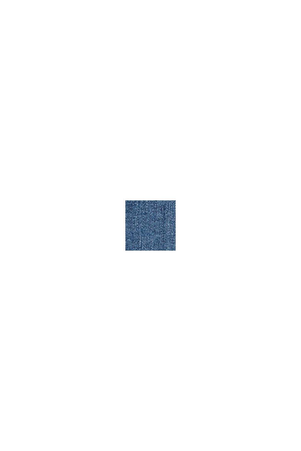 Used-Stretch-Jeans mit offenem Saum, BLUE DARK WASHED, swatch