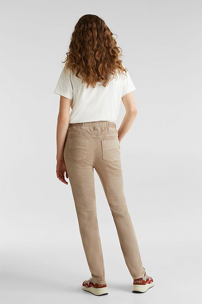 Tracksuit bottoms with an elasticated waistband, BEIGE, detail image number 3