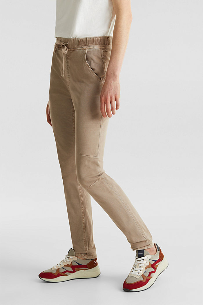 Tracksuit bottoms with an elasticated waistband, BEIGE, detail image number 6