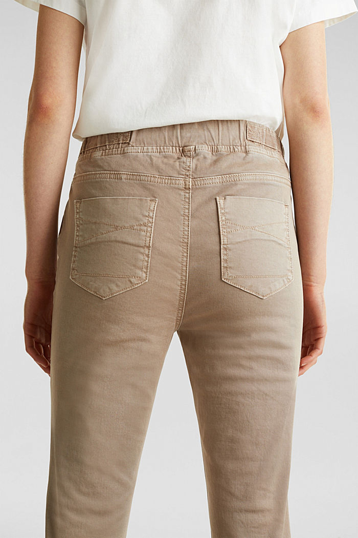 Tracksuit bottoms with an elasticated waistband, BEIGE, detail image number 5