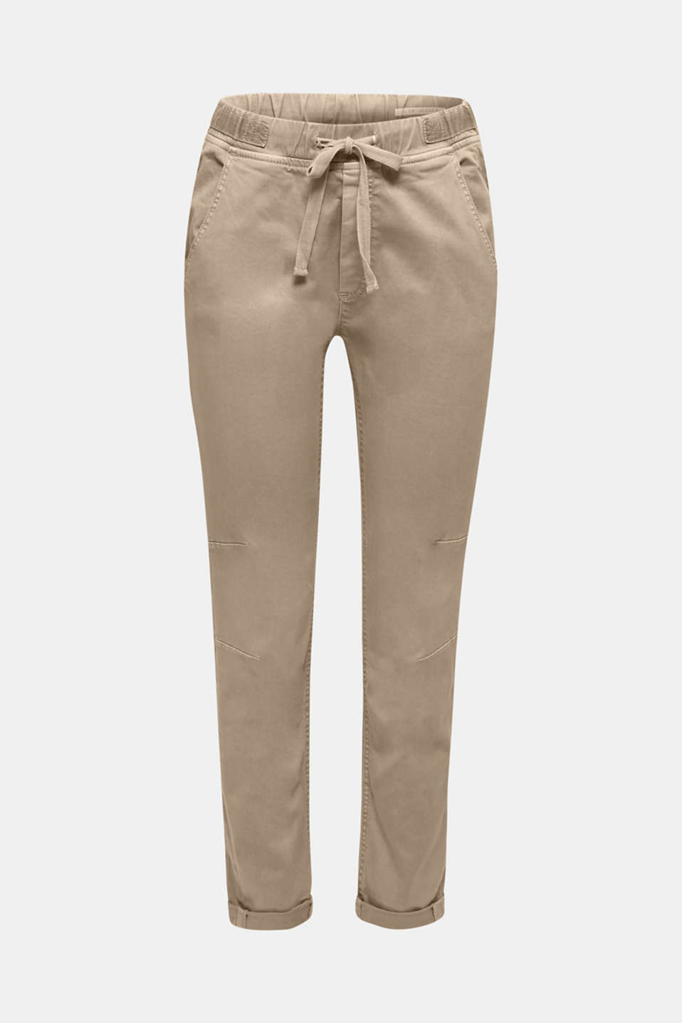 Tracksuit bottoms with an elasticated waistband, BEIGE, detail image number 7