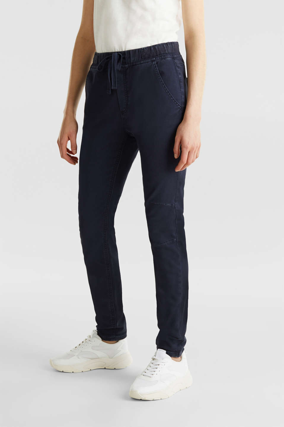 Tracksuit bottoms with an elasticated waistband, NAVY, detail image number 6