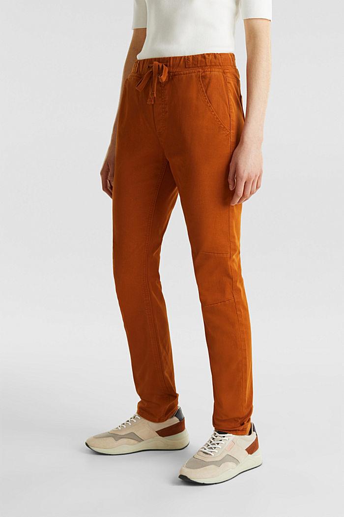 Jogger-Pants mit Gummizugbund, CINNAMON, detail image number 6