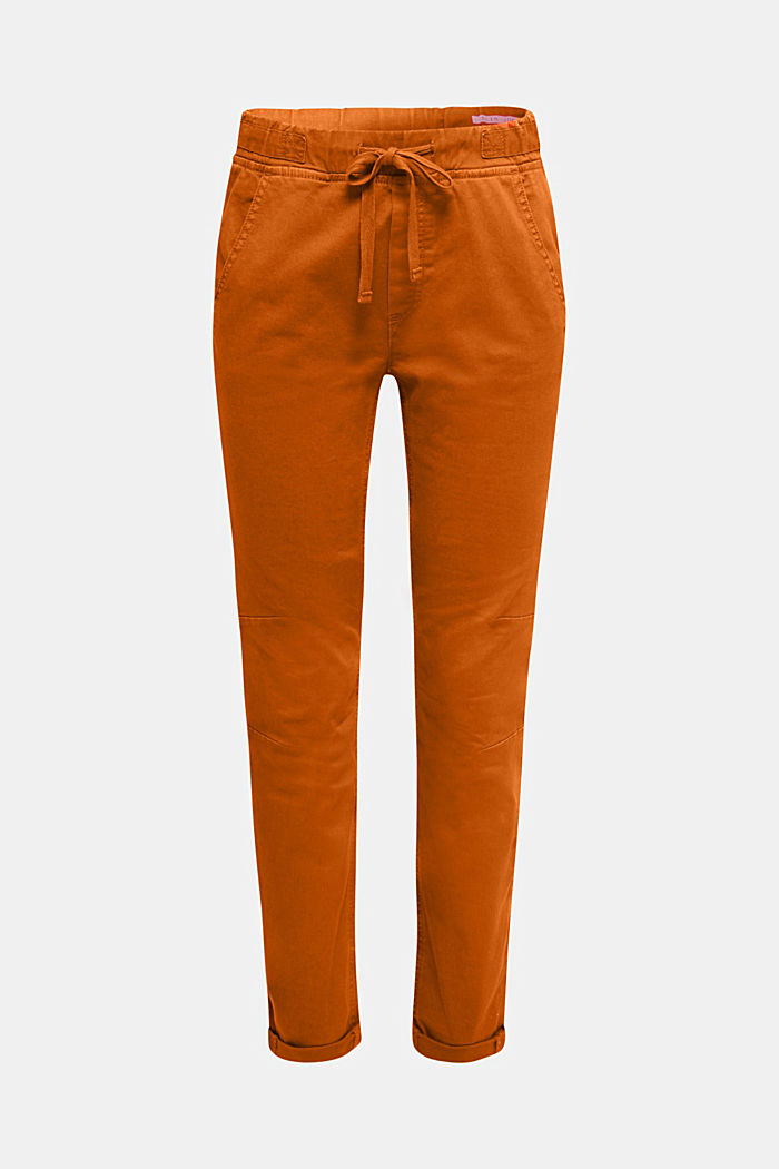 Tracksuit bottoms with an elasticated waistband, CINNAMON, detail image number 7