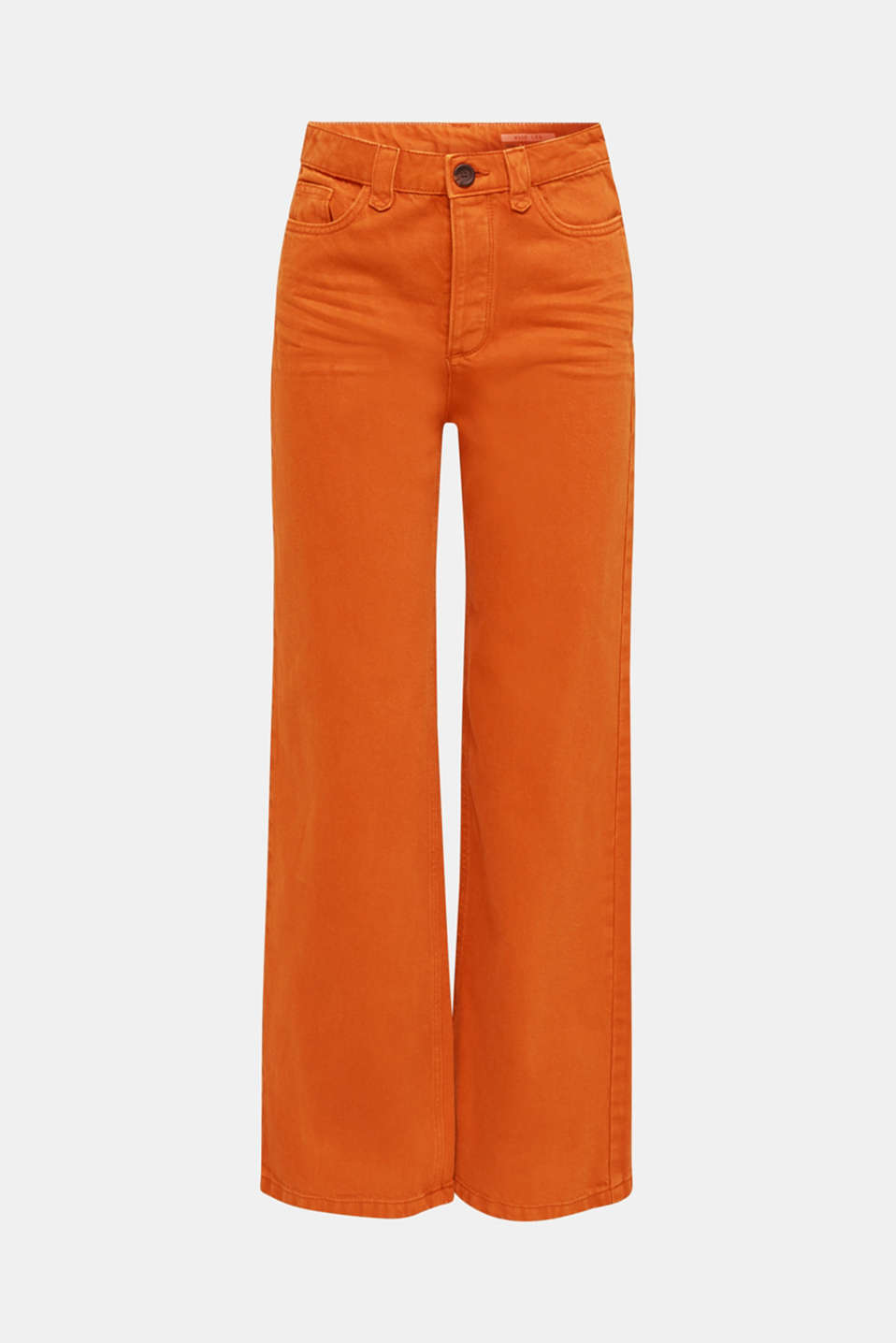 Wide trousers made of blended cotton, CINNAMON, detail image number 7