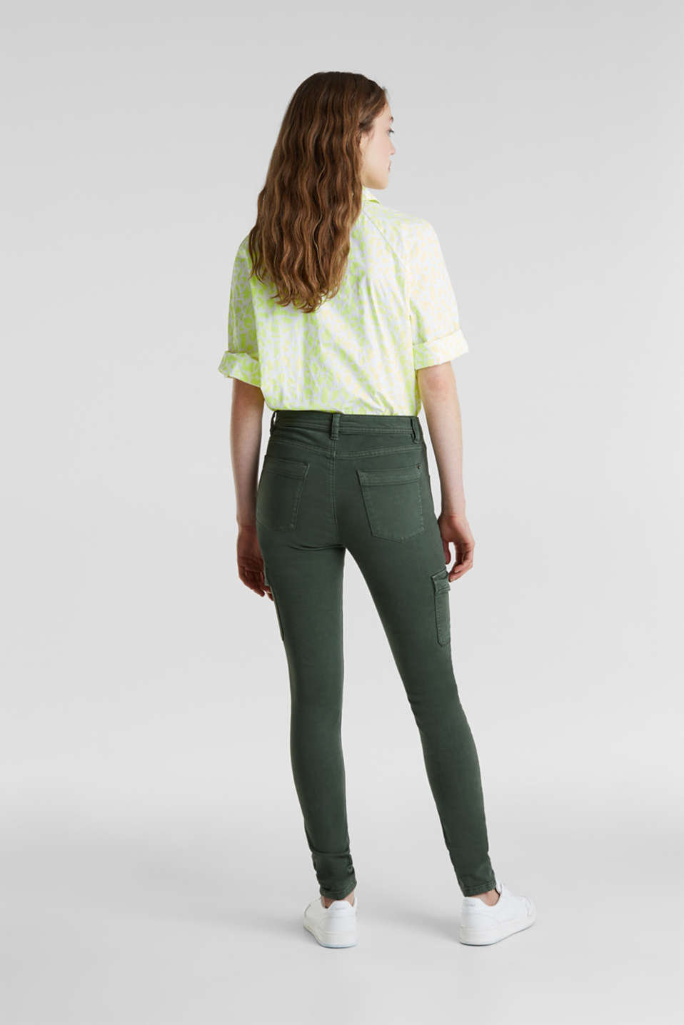 Stretch trousers with cargo pockets, DARK KHAKI, detail image number 3