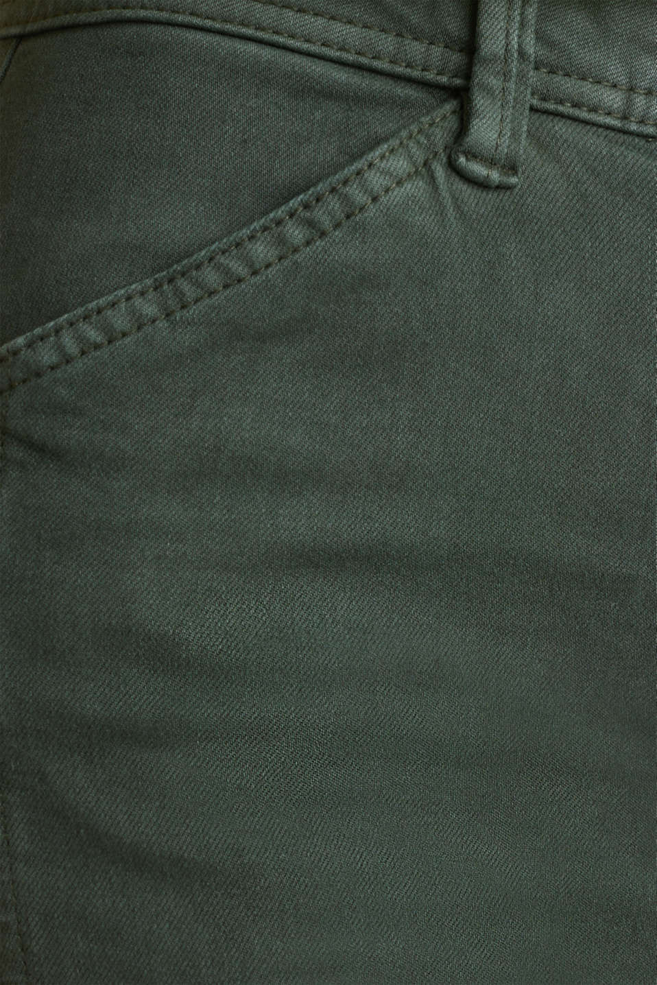 Stretch trousers with cargo pockets, DARK KHAKI, detail image number 4
