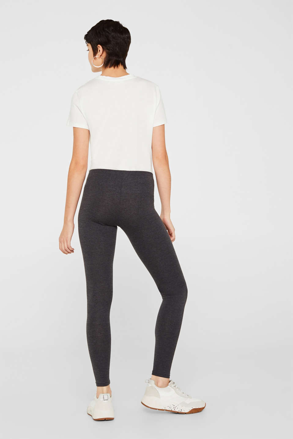 Leggings with organic cotton, ANTHRACITE, detail image number 1