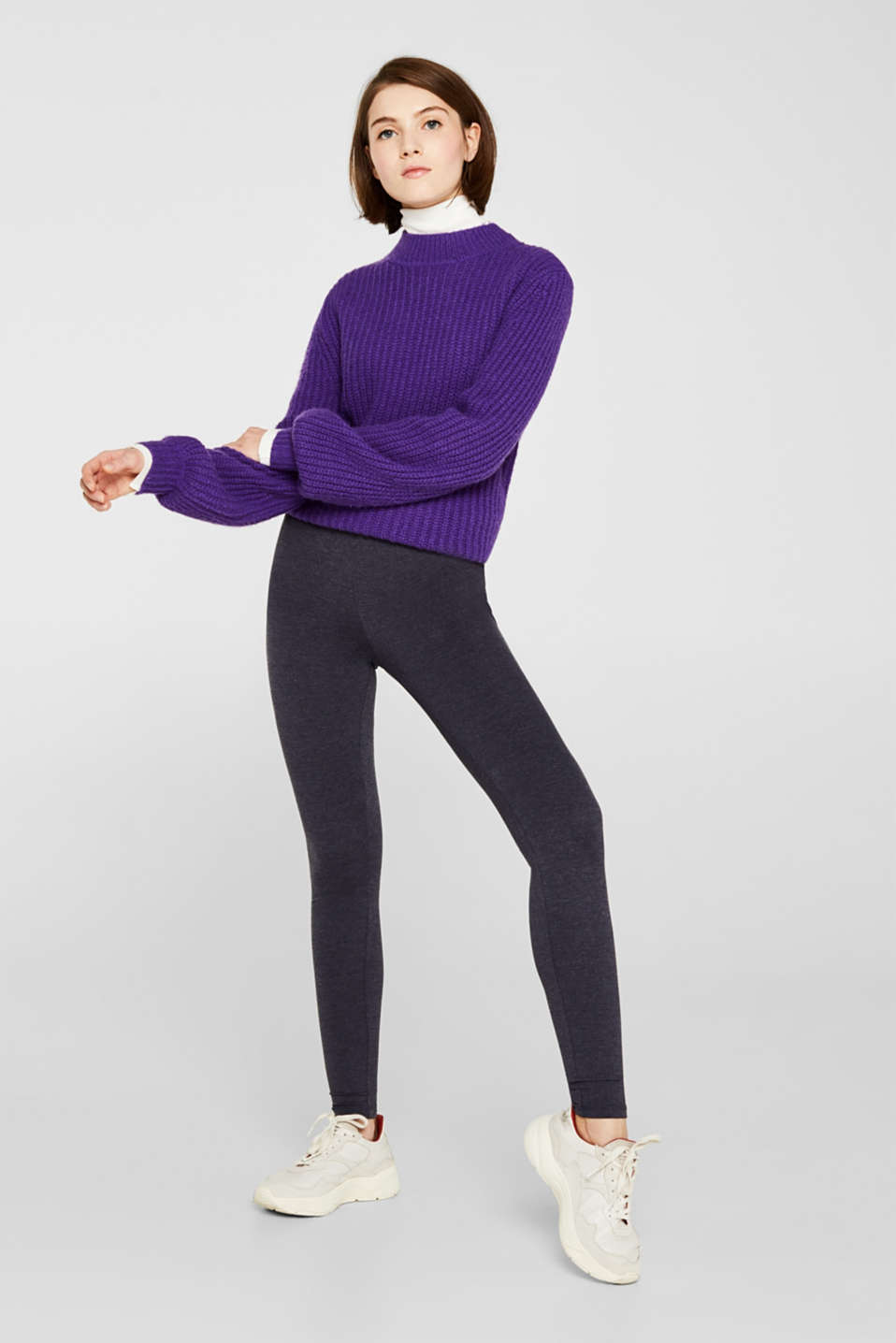 edc - Blickdichte Leggings mit Organic Cotton