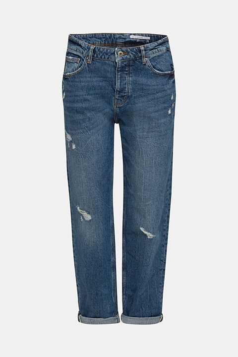 Utility jeans with a button fly