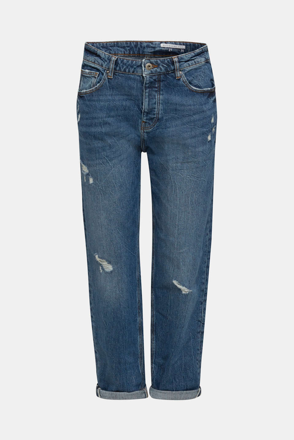 Utility jeans with a button fly, BLUE MEDIUM WASH, detail image number 7