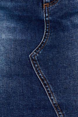 Stretch denim skirt in a vintage look, BLUE DARK WASH, detail
