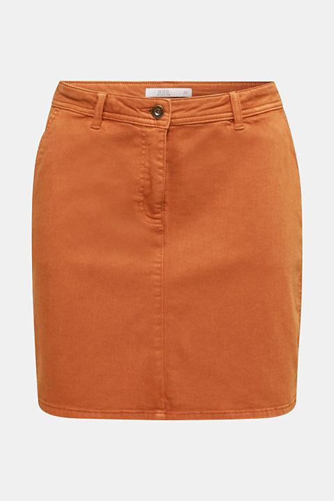 Stretch mini skirt with decorative stitching
