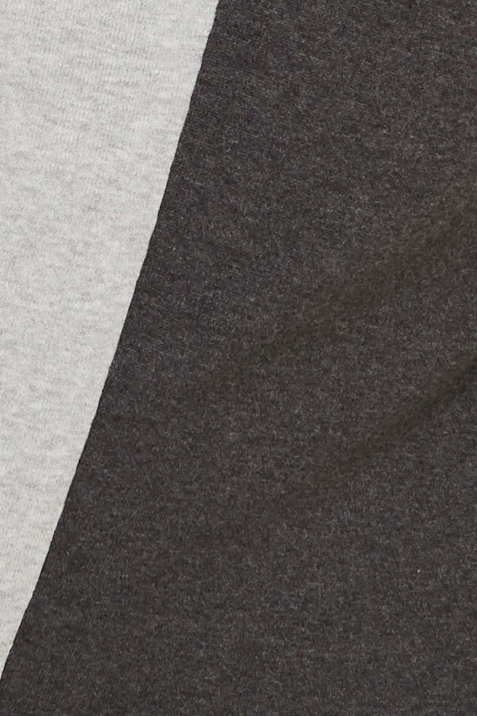 Knitted colour block hoodie dress made of knit, LIGHT GREY 4, detail image number 5