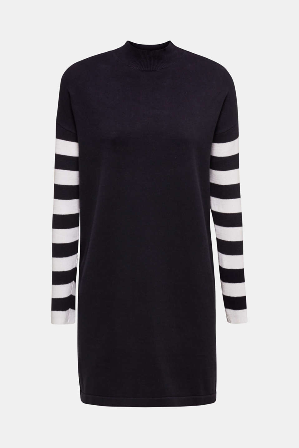 Knit dress with stripes, 100% cotton, NAVY 2, detail image number 8
