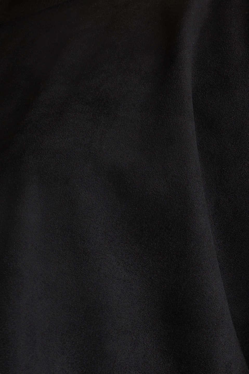 Oversized dress made of stretch velour, BLACK, detail image number 4