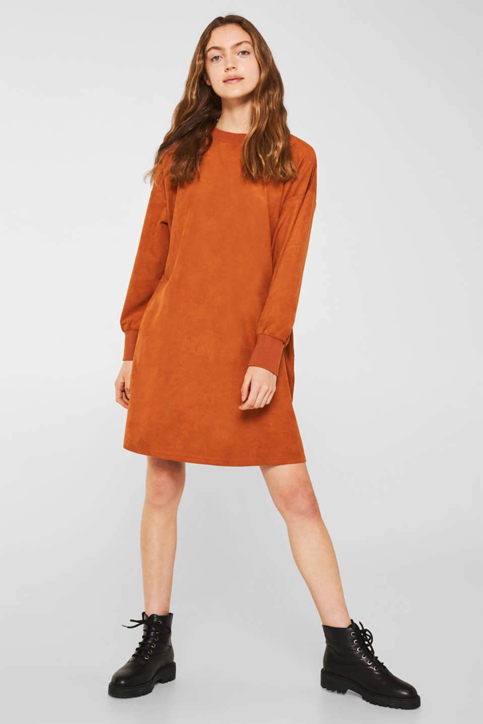 edc - Oversized dress made of stretch velour