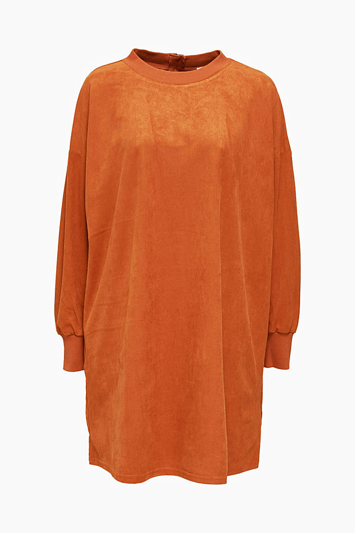 Oversized dress made of stretch velour