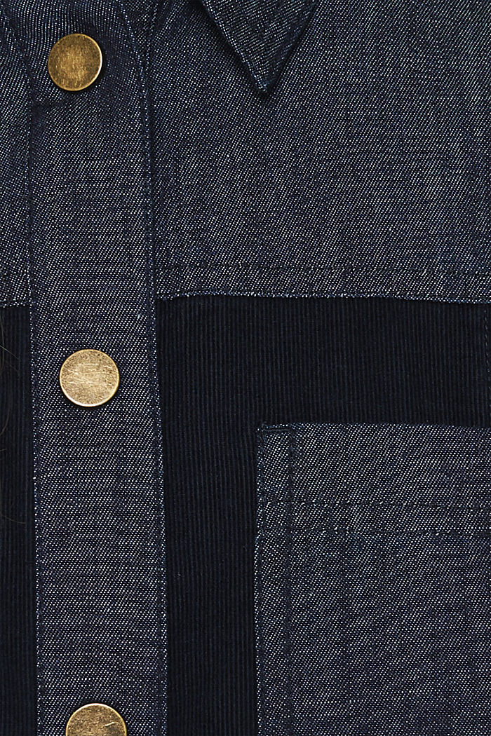 Stretch dress made of corduroy and denim, NAVY, detail image number 4