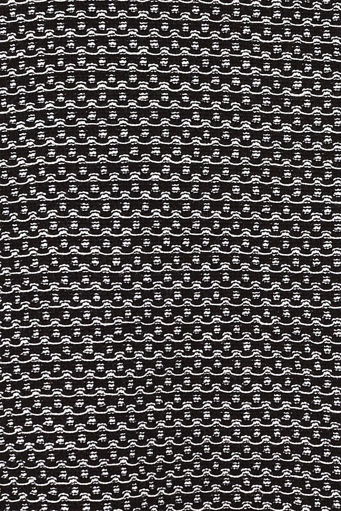 Knit dress with texture, 100% cotton, BLACK, detail image number 4